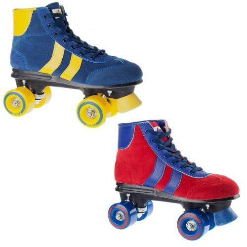 Rookie retro disco roller skates quads patins disponible en bleu/jaune